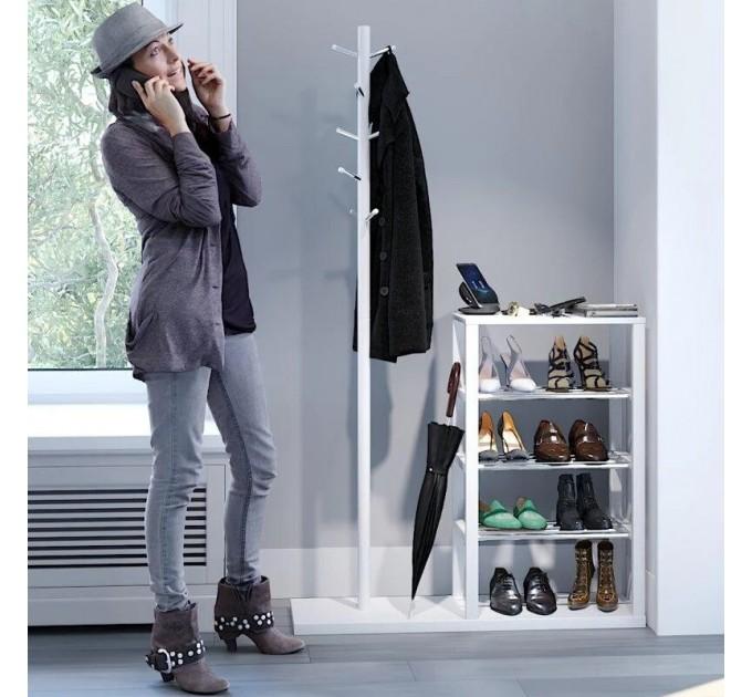 Напольная вешалка с полкой для обуви «КАНЗАС»