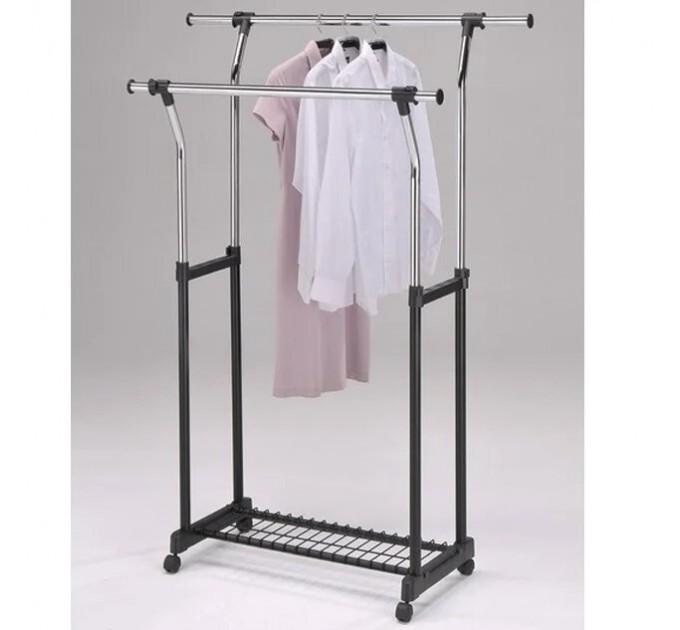 """Двойная стойка для одежды с телескопическими штангами """"СН-4375"""", усиленная"""